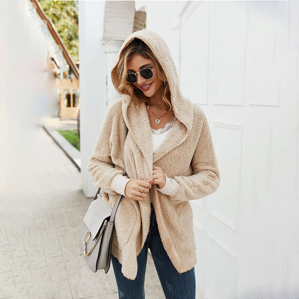 Apricot Hooded Fleece Jacket