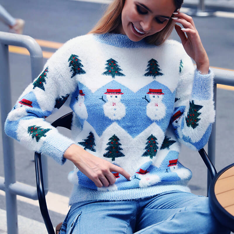Ugly Christmas Snowman Knit Sweater?