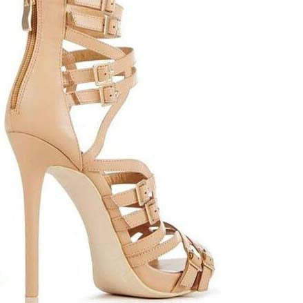 Gladiators High Heel Buckle Cutout Sandals