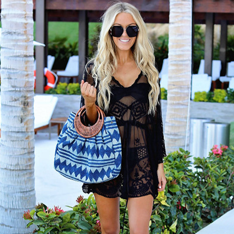 See Through Lace Cover Up Short Dress