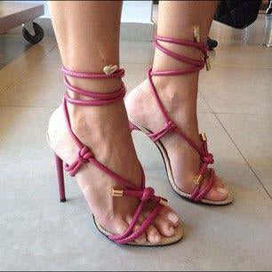 Suede Strap High Heel Strappy Ankle Sandals