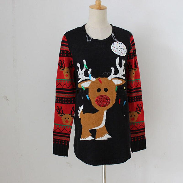 Ugly Christmas Embroidered Crew Neck Sweater