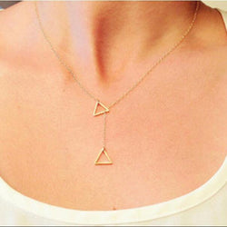 Geometric Triangular Cross Necklace