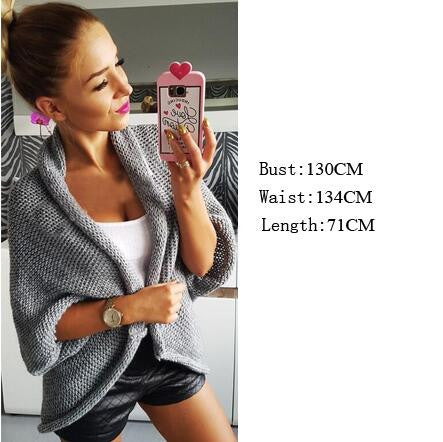 Thick Knitting Irregular Sweater Cardigan