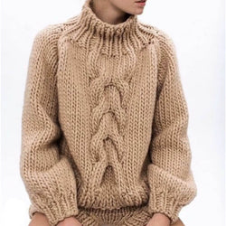 Cable Knitted Warm Sweater