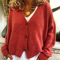 Pure Color With Button Cardigan