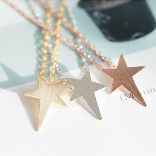 Beautiful Stars Pentagram Clavicle Short Necklace