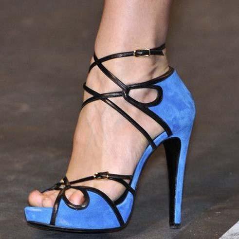 Strap High Heel Peep Toe Sandals