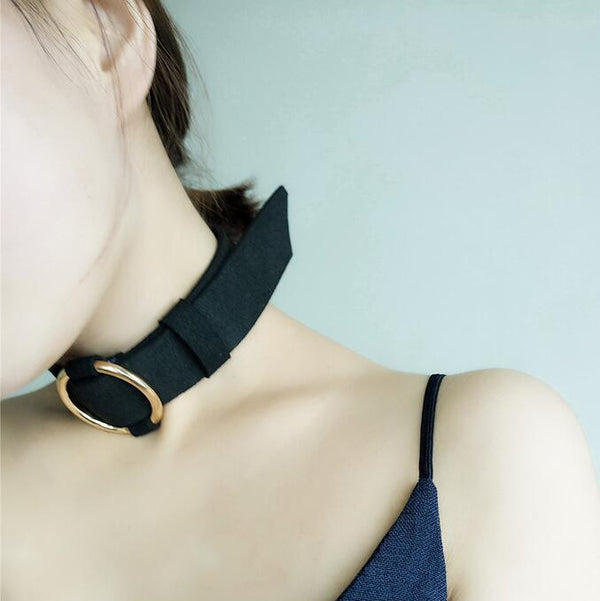 Alloy Circle Lint Collars Necklace