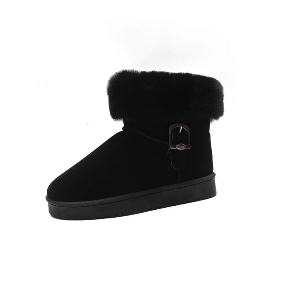 Ankle Snow Fur Warm Low Heel Boots