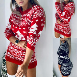 Christmas Reindeer Sweater Dress