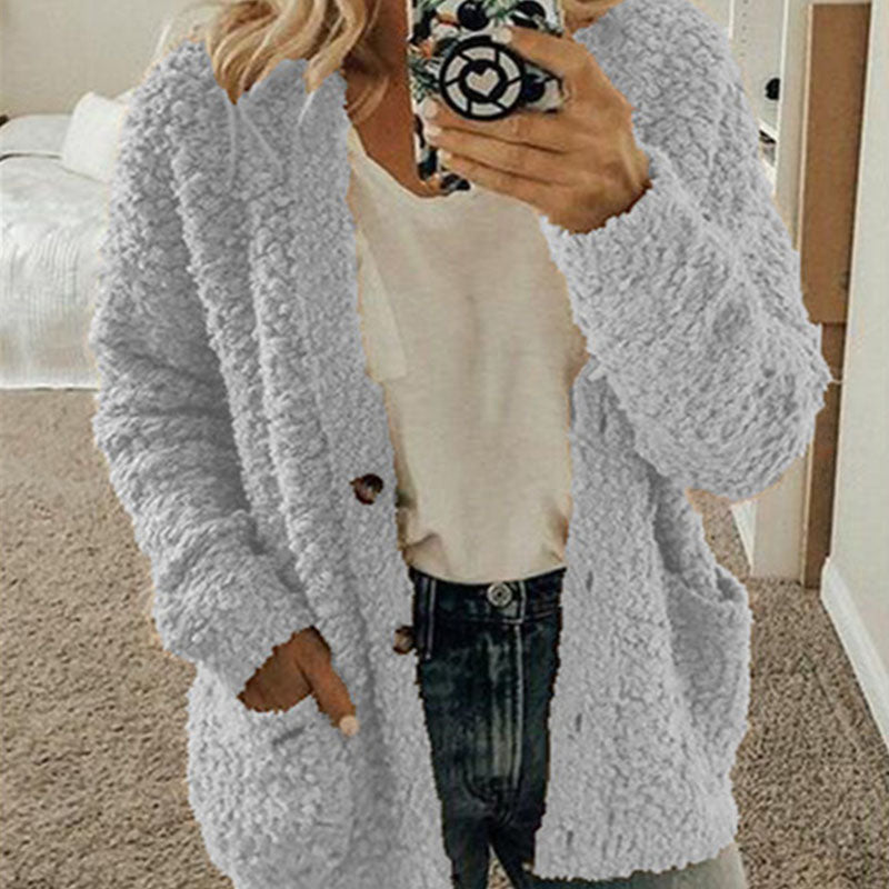 Button Up Popcorn Sweater Cardigan