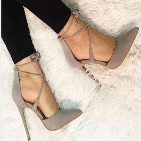 Sexy Strap Pointed Toe High Heel Sandals