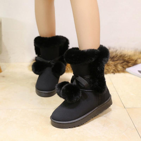 Winter Fur Snow Lace up Ankle Boots