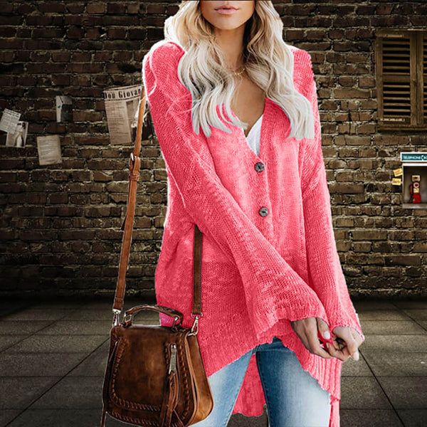 Bell Sleeve High Low Cardigan Sweater