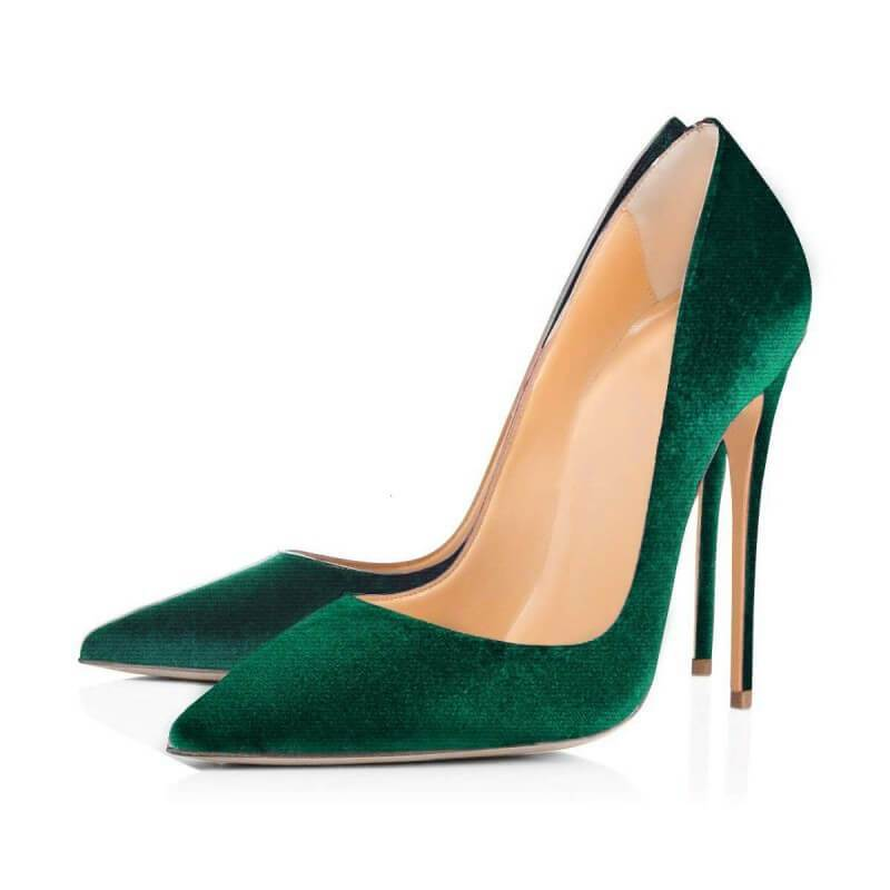 Casual Suede Pointed Toe Stiletto Heel Pumps