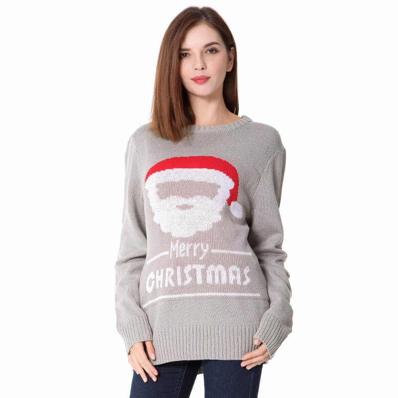 Christmas Crew Neck Pattern Knitting Sweater