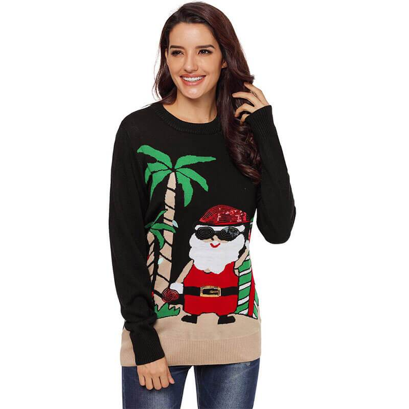 Ugly Christmas Long Sleeve Knit Sweater