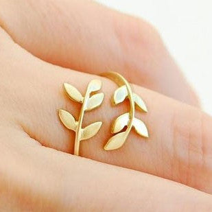 Korean Style Cute Leaf Design Rings - May Your Fashion - 1