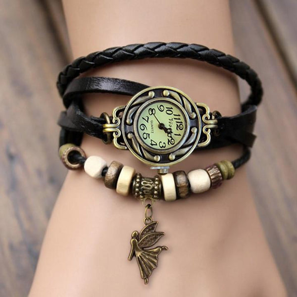 Weave Leather Bracelet Wrist Watch - MeetYoursFashion - 2