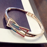 Simple Fashion Crystal Geometric Shape Women's Bracelet