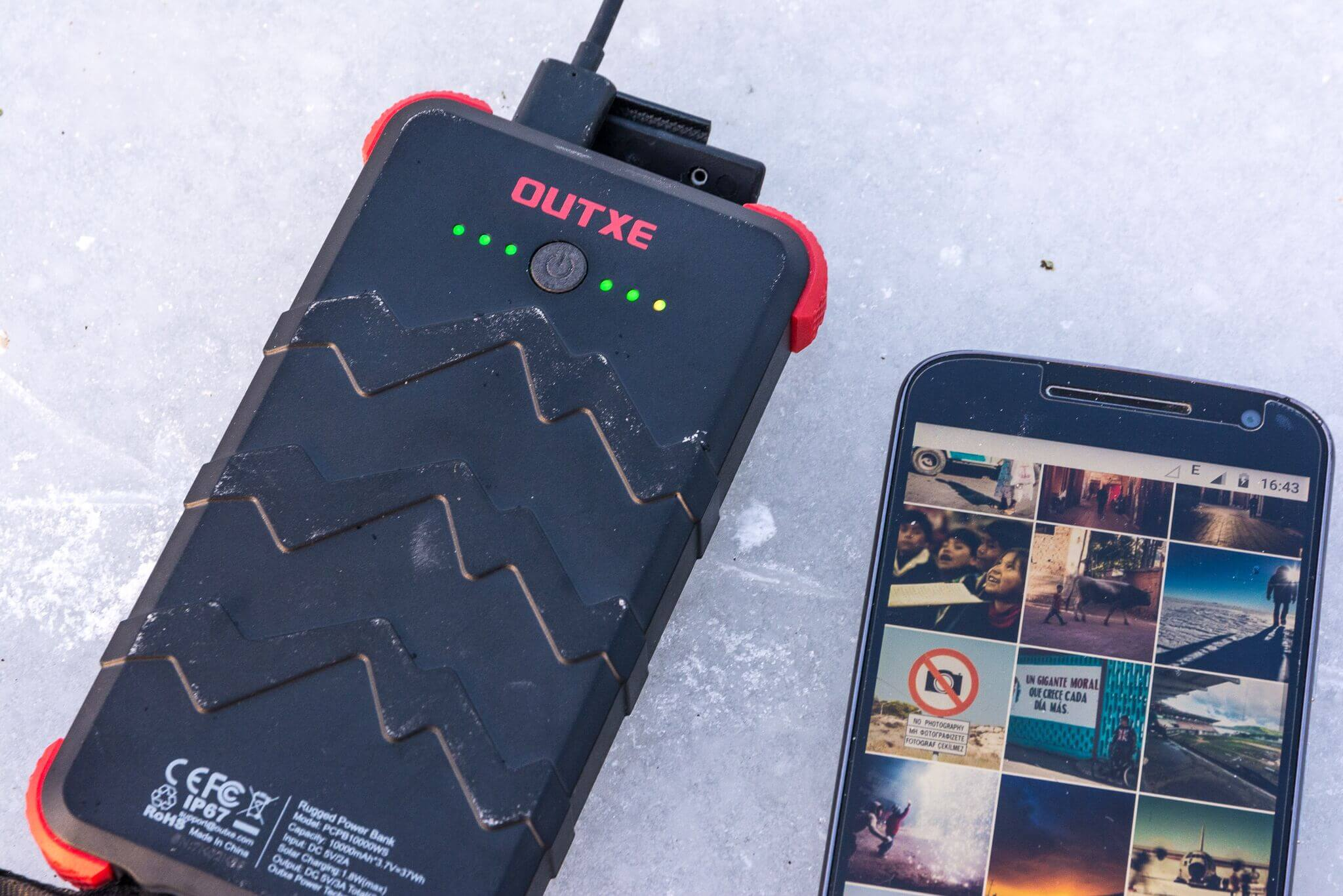 OUTXE Savage Power Bank 10000mAh - An Outdoor Battery for Rough Tour in the Field