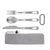 OUTXE Titanium 3 Piece Camping Utensil Set, Spoon Fork Knife Combo for Lunch Box and Travel