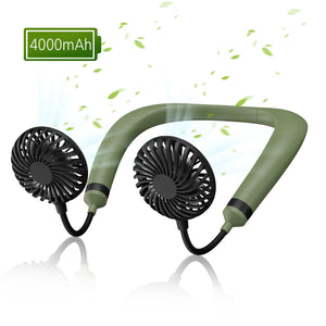 OUTXE Hanging Neck Sports Fan Explosion-proof battery 4000mAh Hands-Free USB Rechargeable Personal Wearable Neckband Fan