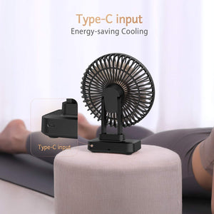 Funme USB Desk Fan Person Air Circulator Small but Mighty, Quiet Portable Fan for Desktop Office, 90° Adjustment for Better Cooling, 3 Speeds