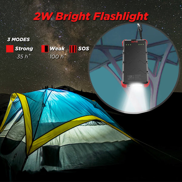 outxe savage power bank with flashlight