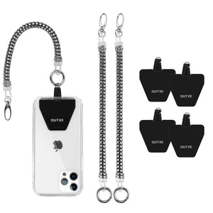OUTXE Phone Lanyard Tether with Patch- 4× Phone Patch, 2× Phone Tether, Universal Stretchy Lasso Strap