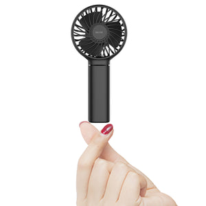 OUTXE Makeup Fan Mini Handheld Fan 3350mAh Eyelash Fan with 3 Settings Beauty Fan for Women & Girls, Pink