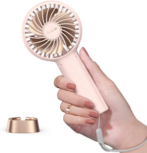 Funme Mini Fan Handheld Fan 3350mAh USB Eyelash Fan for Women Girls Pink