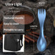 OUTXE Titanium 2 in 1 Fork and Spoon Combo Ultra Lightweight Camping Utensil 2-Pack