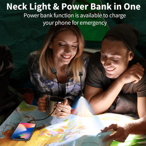 OUTXE Hands Free Neck Light Around Neck 4000mAh 3 Brightness Level Perfect for Camping, Hiking, Repairs