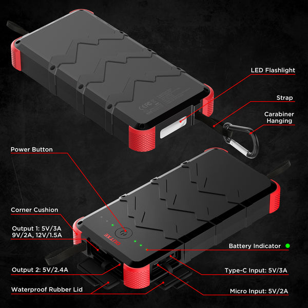 OUTXE Savage 20000mAh Rugged Power Bank Quick Charge