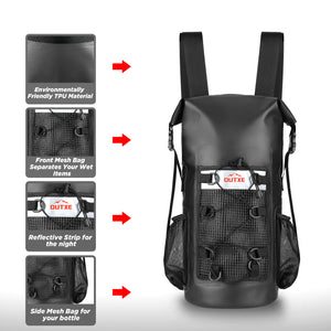 outxe waterproof dry bag backpack 20l