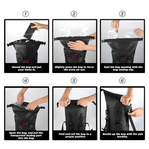 100% waterproof dry bag backpack
