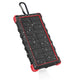 OUTXE 10000mAh Rugged Solar Charger with Flashlight Type-C