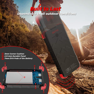 outxe solar charger power bank
