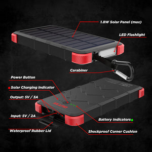 outxe waterproof solar charger