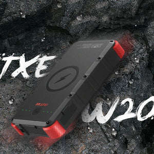 OUTXE W20 Combo: Wireless Solar Power Bank 20000mAh , 7W Solar Panel , Dual USB Charger On Kickstarter