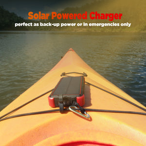 OUTXE 25000mAh Wireless Solar Power Bank IP67 Waterproof Solar Phone Charger with Flashlight Dual Input Type C & Micro USB…