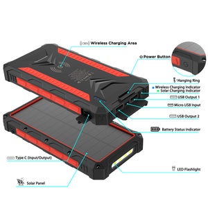 fast wirless power bank solar