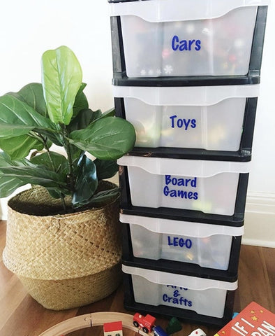 Indoor Game Toy Storage Idea