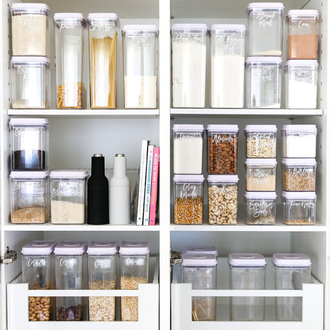 push top pantry containers