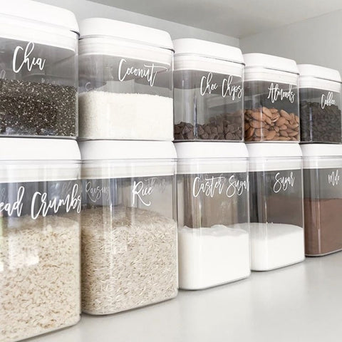 Store Dry Food Items in Containers