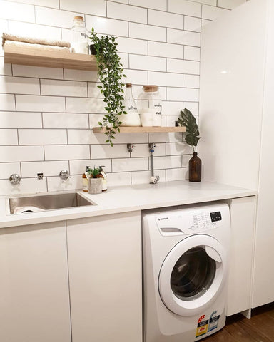 Wall Storage - Ceiling Space - Laundry Room Organisation