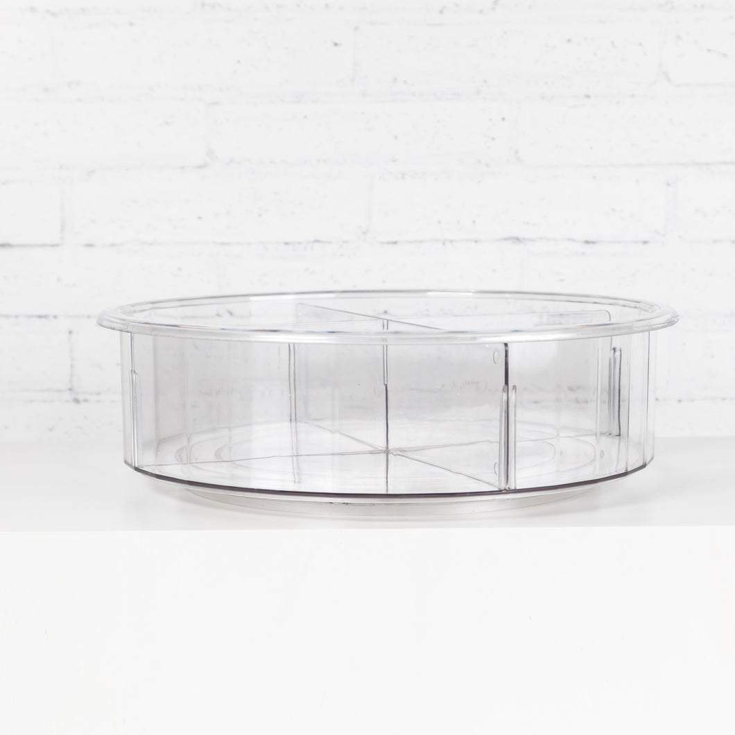 Clear Divided Lazy Susan