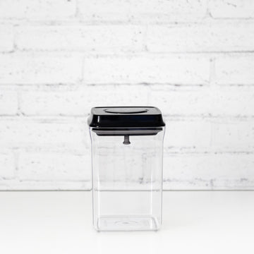PLD 1.5L Black Lid Pantry Container (Push Top Seal)